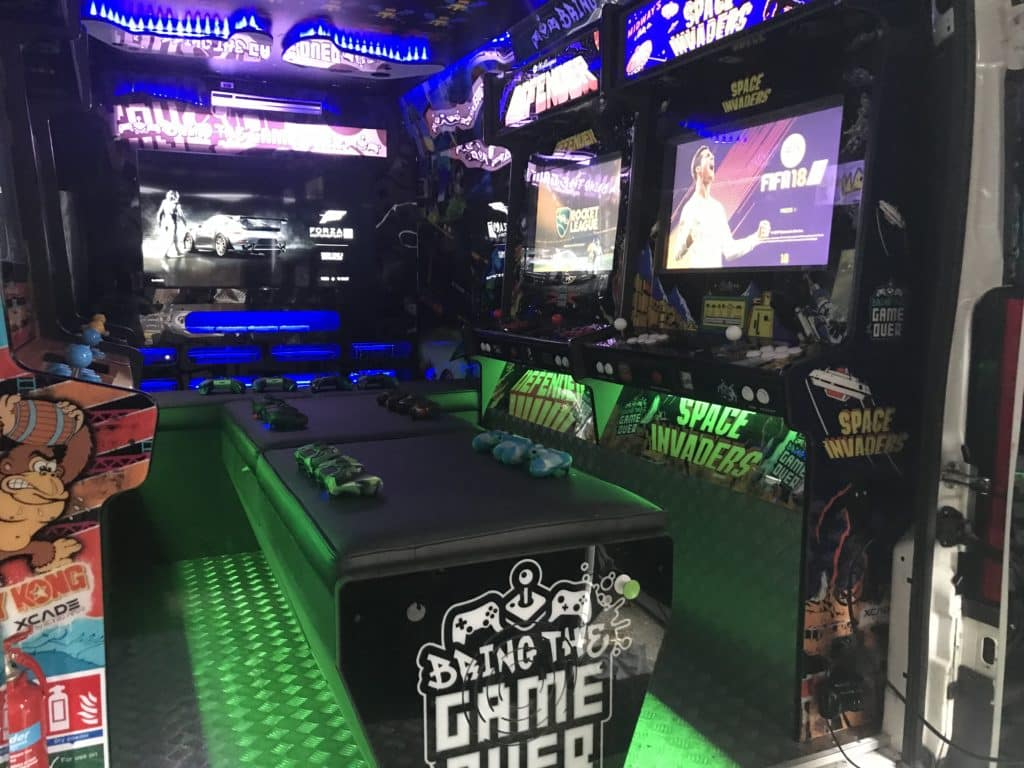 Bring the game over van interior