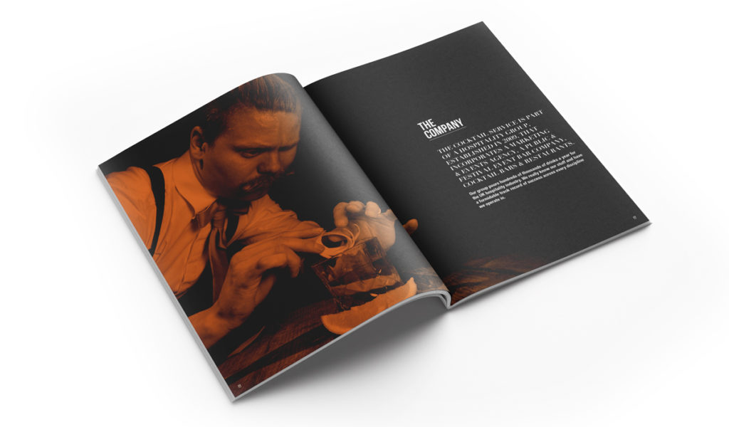 Cocktail company brochure
