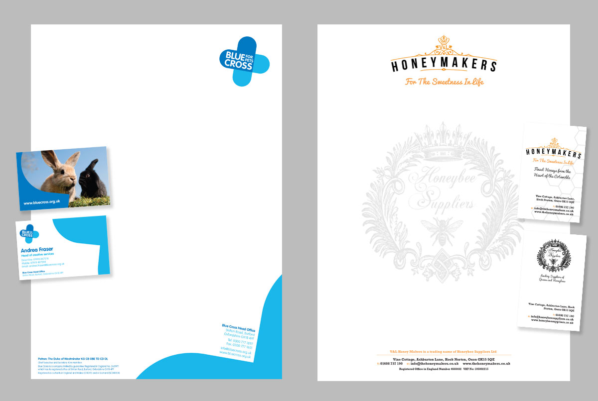 business stationery design by toast