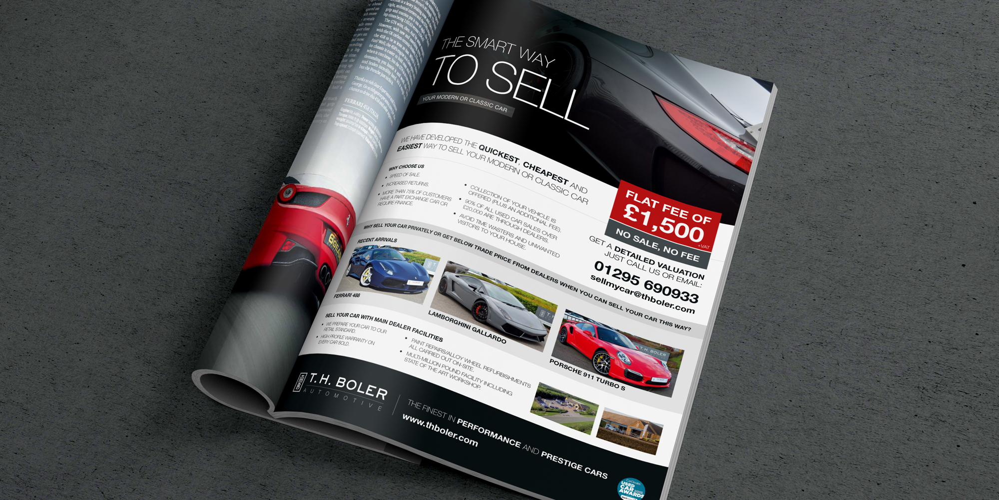 Luxury Car Dealership Branding Materials Adverts